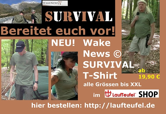 Wake News SURVIVAL T-Shirt Werbung 2017 Juli vsm